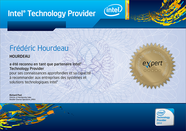 Intel Technology Provider professionnel - Dépannage, installation et formation informatique Paris
